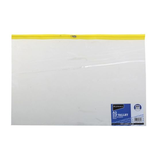 Ryman Zip Bag A3 Pack of 15 Clear