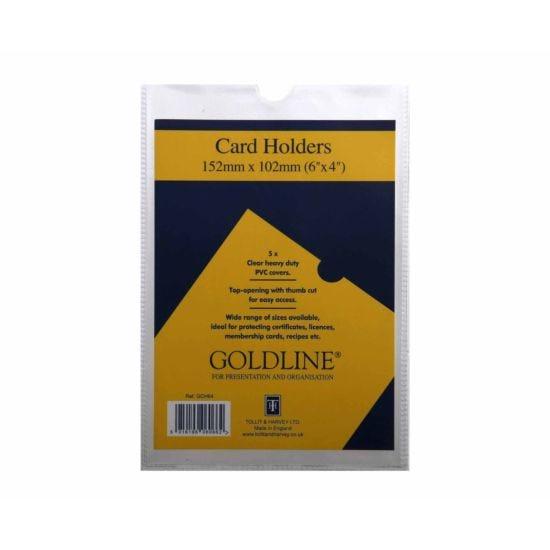Goldline Card Holders 152x102mm