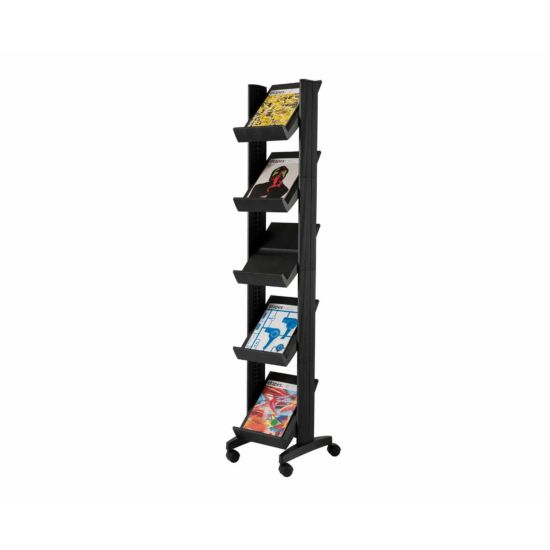Mobile Display Unit with 5 Sloping Shelves