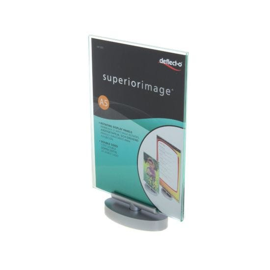 Deflecto Superior Image Sign Holder Swivel A5 Portrait