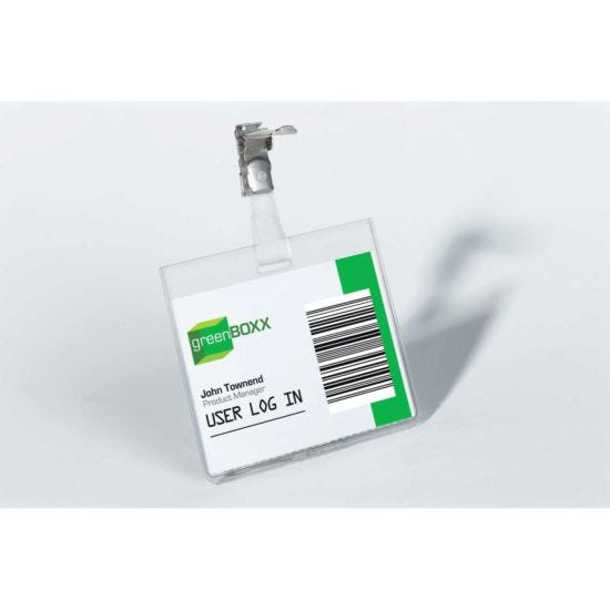 Durable Security Badge With Clip 60x90mm Pack of 25