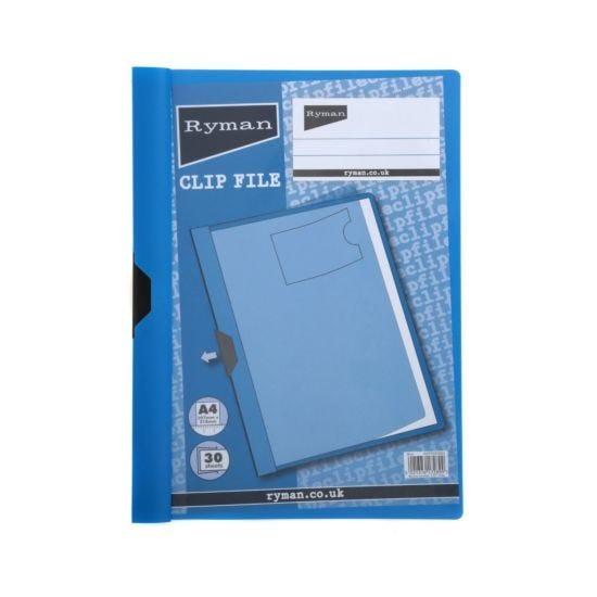 Ryman Clip File A4 30 Sheet Blue