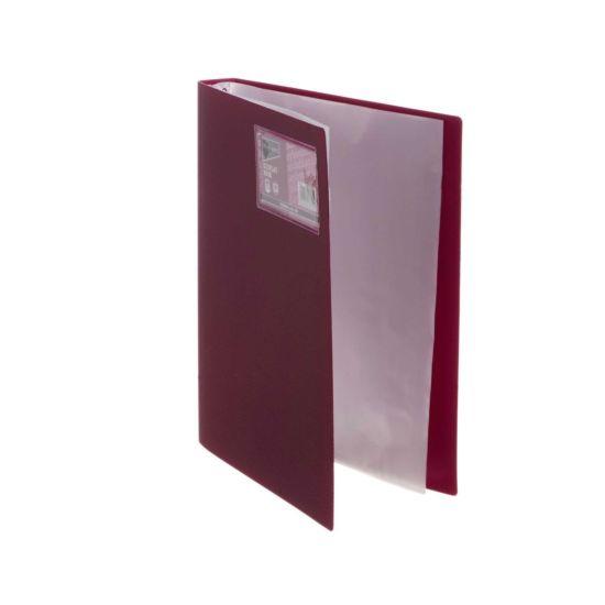 Ryman Display Book A4 20 Pocket Burgundy