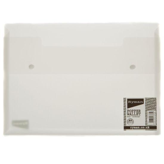Ryman Popper Wallet A4 Clear