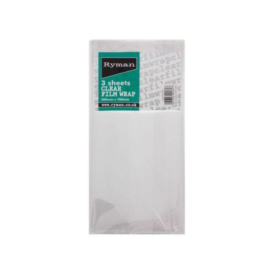 Ryman Cellophane 3 Sheet Clear