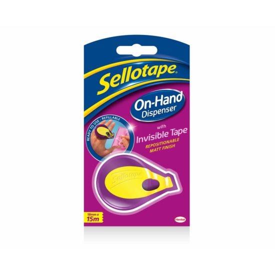 Sellotape Invisible Tape Dispenser 18mmx5m