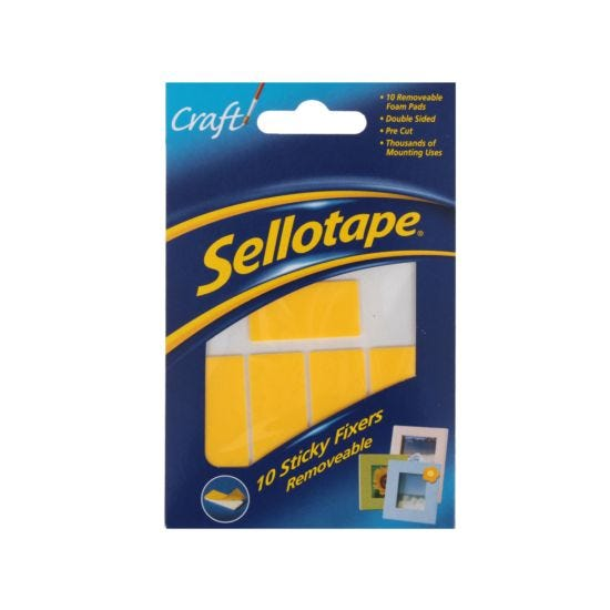 Sellotape Sticky Fixers 20mm x 40mm removeable