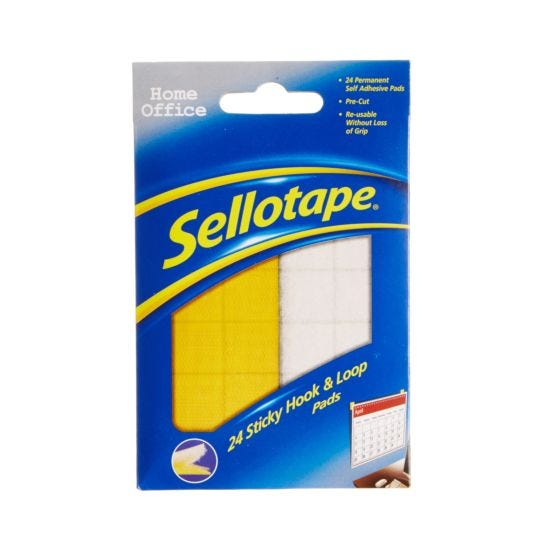 Sellotape Sticky Hook and Loop Pads