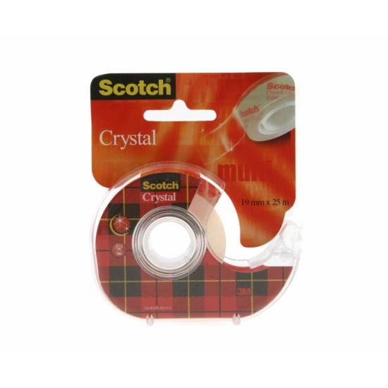 3M Scotch Crystal Clear Tape 19mm x 25m with Dispenser