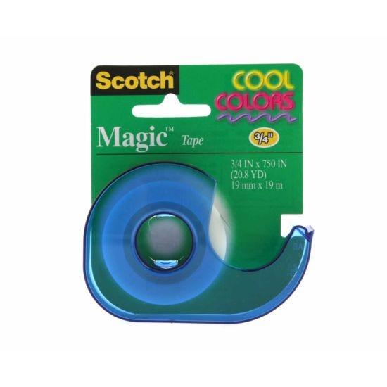 3M Scotch Magic Tape 19mm x 19m with Coloured Dispenser