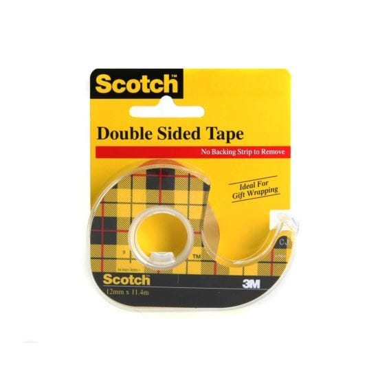 3M Scotch Double Sided Tape 12mm x 11.4m with Dispenser