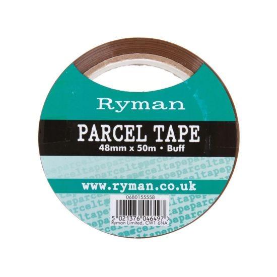Ryman Parcel Tape 48mmx50m Pack of 6 Buff