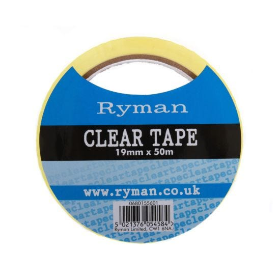 Ryman Clear Tape 19mmx50m Pack of 16