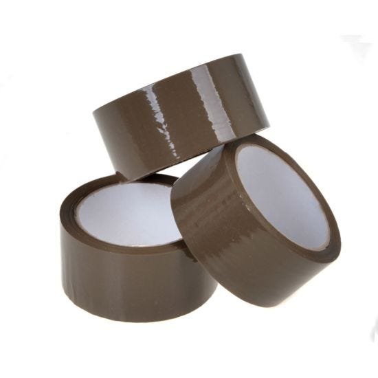 Buff Low Noise Packaging Tape 48mm x 66m Pack of 6