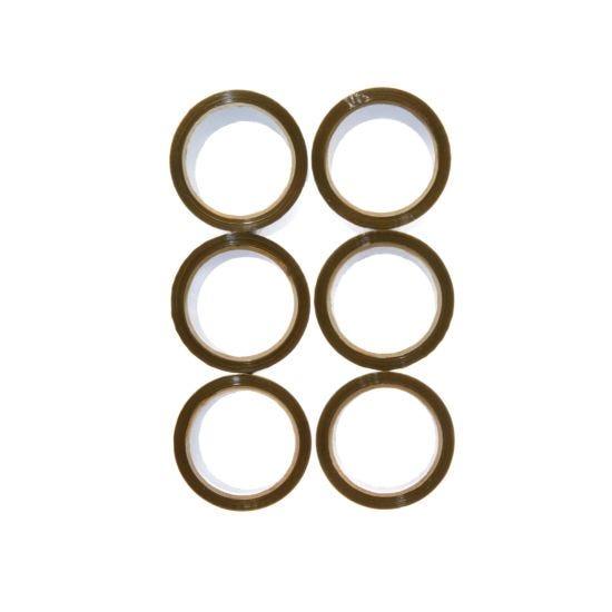 Brown Packaging Tape 48mm x 66m Pack of 6