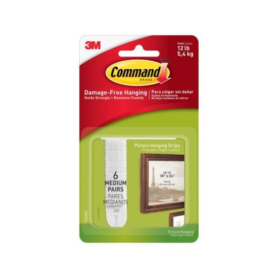 Command Medium Picture Hanging Strips 17201 Pack of 24