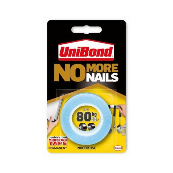 Unibond No More Nails Double Sided Mounting Tape 80kg 19mm x 1.5m
