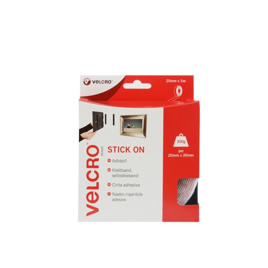 VELCRO Brand Stick On Hook And Loop White
