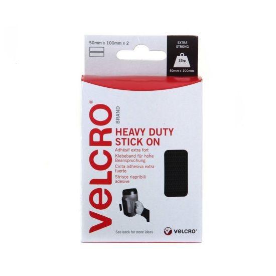 VELCRO Brand Heavy Duty Strips 50mmx100mm Pack of 2