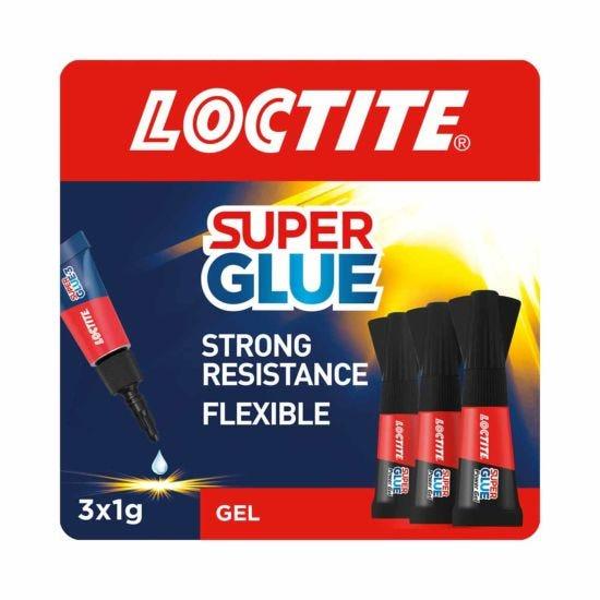 Loctite Super Glue Power Gel Mini 1g Pack of 3