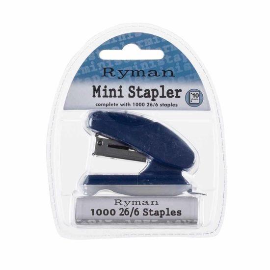 Ryman Pastel Mini Stapler 26/6 Navy
