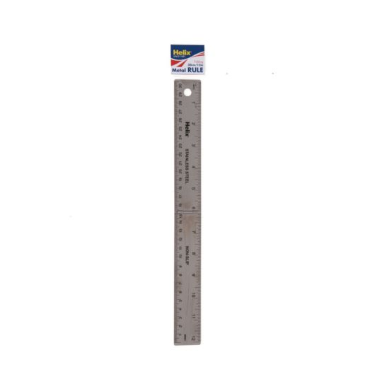 Helix 30cm Stainless Steel Folding Metal Ruler