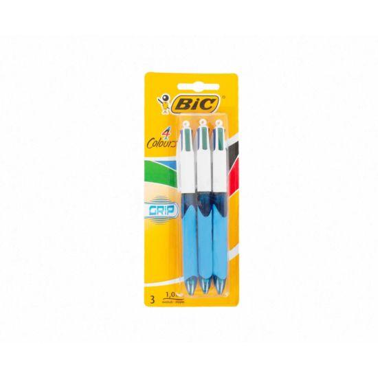 BiC 4 Colour Grip Pack 2 Plus 1 Grip Standard Colours