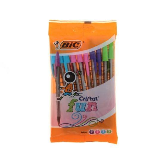 BiC Cristal Fun Pouch 10 Ball Pens