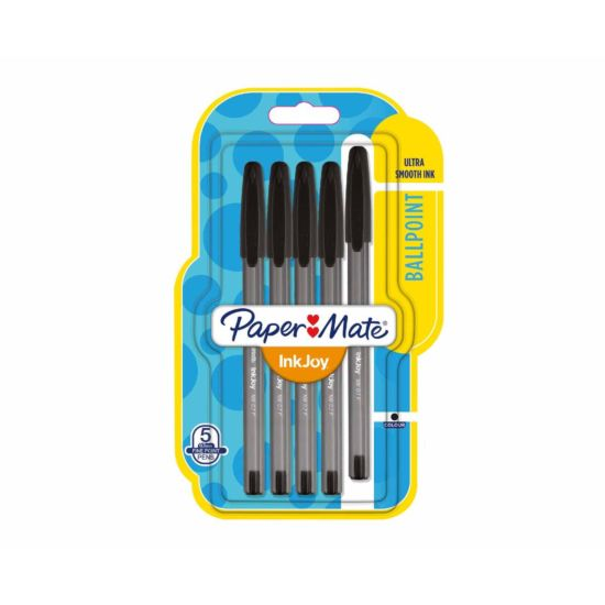 Paper Mate Inkjoy 100 Fine Point Pen Pack of 5