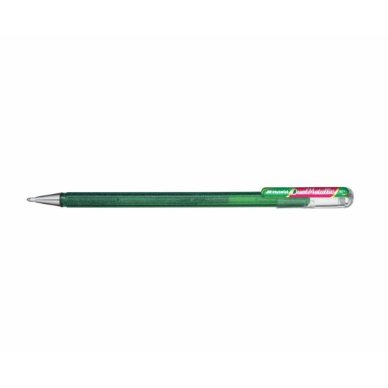 Pentel Dual Metallic Gel Pen Green and Metallic Red