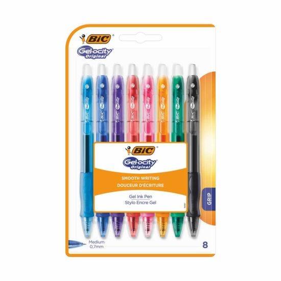BiC Gelocity Original Gel Ink Pens Pack of 8