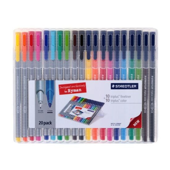 Staedtler Triplus Colour and Fineliner Pack of 20