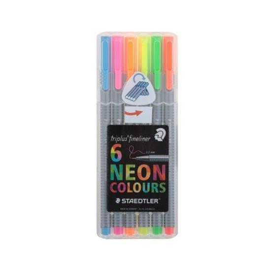 Staedtler Triplus Fineliner Neon Pack of 6