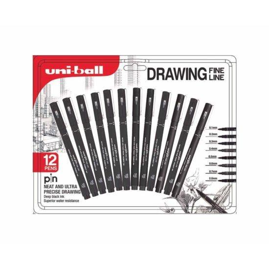 Uni-ball PIN Drawing Pens Pack of 12