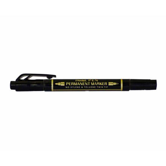 Pentel Twin Tipped Permanent Marker Black