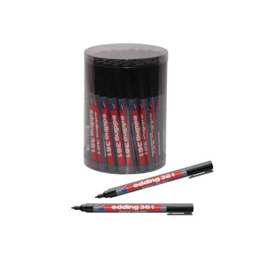 Edding 361 Drywipe Markers Black Tub of 50 Fine Tip