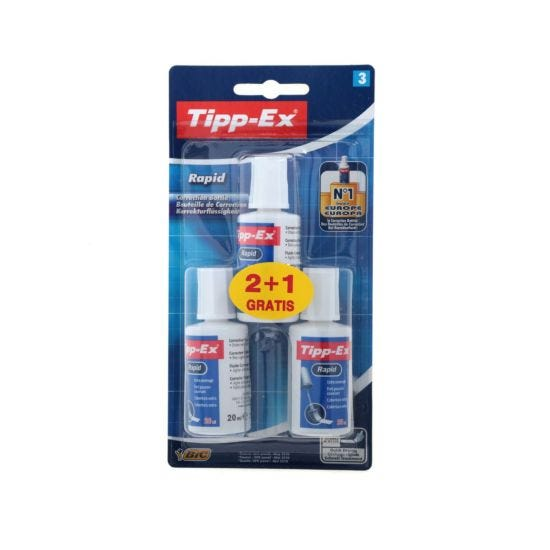 Tipp-Ex Rapid Blister Pack of 3