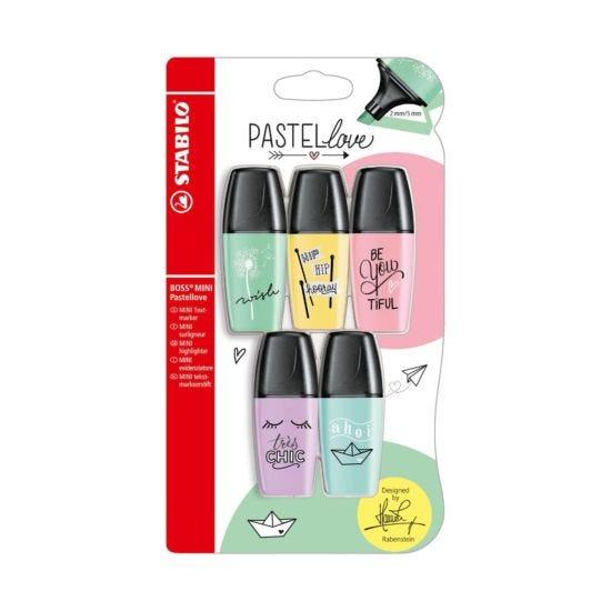 STABILO Boss Mini Pastel Love Highlighters Pack of 5