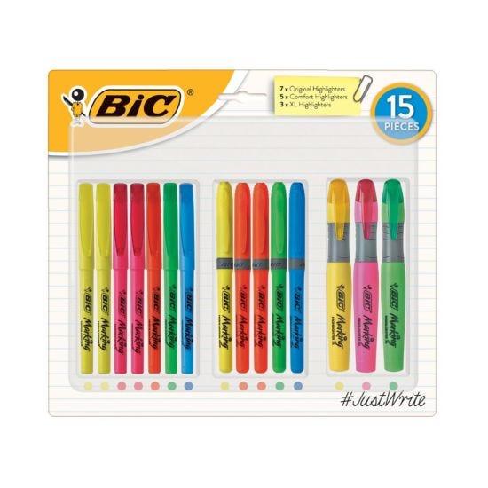 BiC Highlighter Set of 15