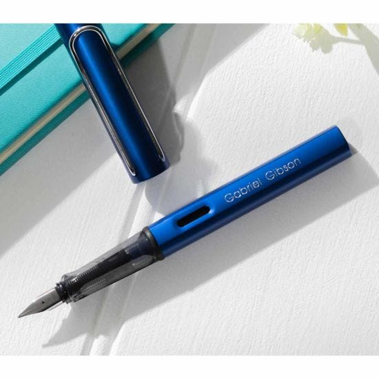 Personalised Engraved Lamy Al-star Fountain Pen