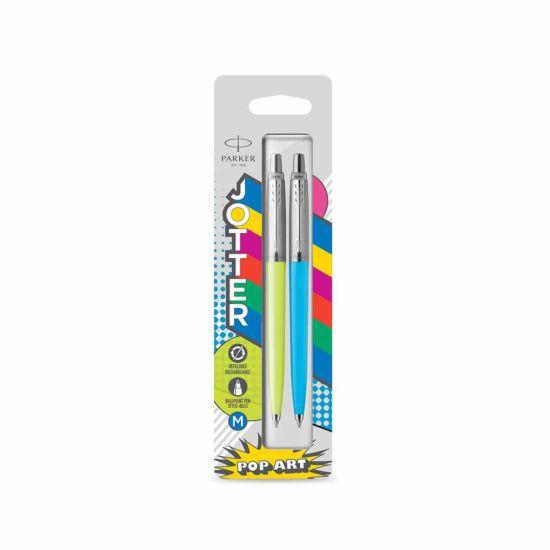 Parker Jotter Originals Ballpoint Pen Lime and Sky Blue