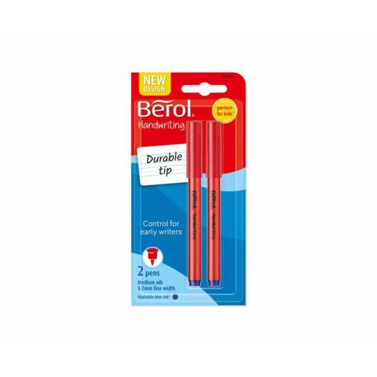 Berol Handwriting Pen Pack of 2 Blue