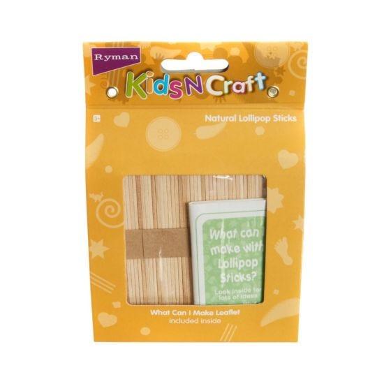 Ryman Activity Kit Lollipop Sticks Natural