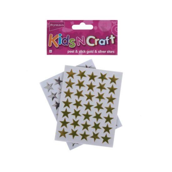 Ryman Activity Kit Gold & Silver Star Stickers