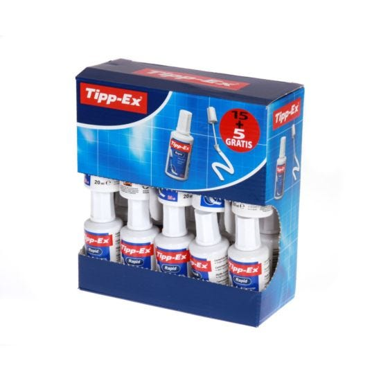 Tipp-ex Rapid Correction Fluid Pack of 20