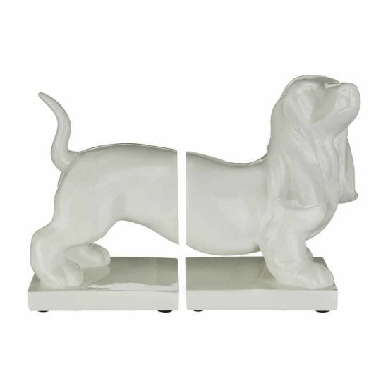 Premier Housewares Set of 2 Bookends Dachshund