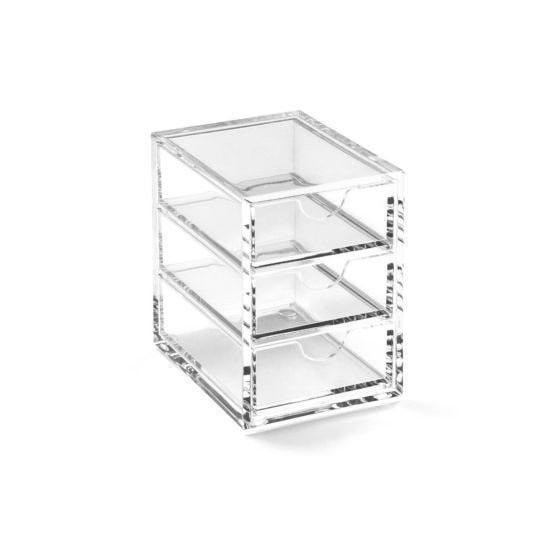 Osco Acrylic 3 Drawer Storage Box Medium A3274