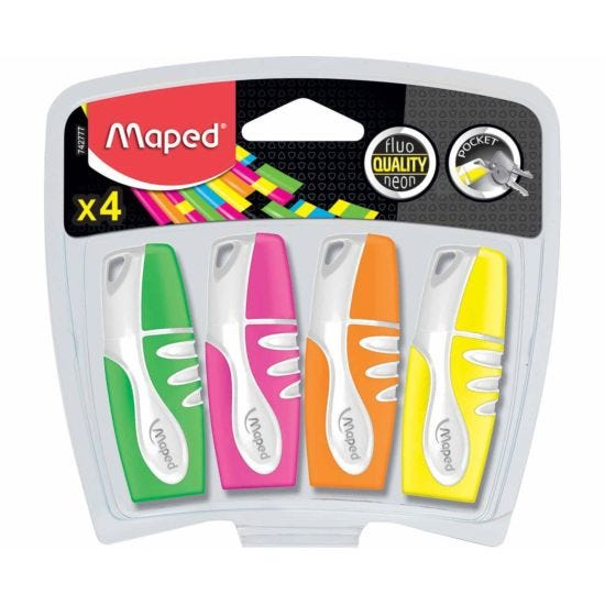 Maped Fluo Peps Pocket Highlighters