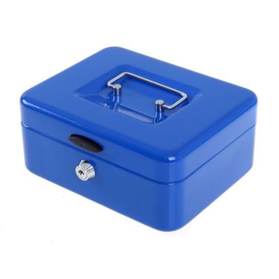 Ryman Button Release Cash Box H90xW200xD170mm Blue
