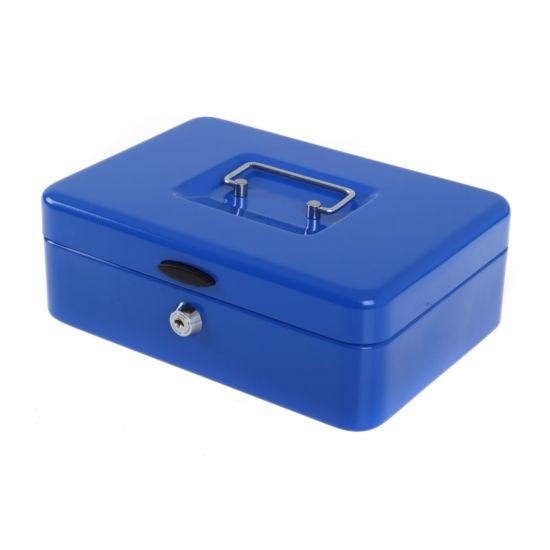 Ryman Button Release Cash Box H80xW240xD170mm Blue